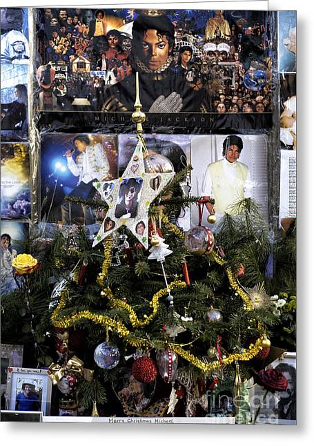 Merry Christmas Michael Jackson Greeting Card by John Rizzuto