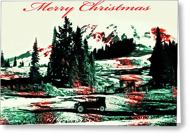 Merry Christmas Mount Rainier Greeting Card