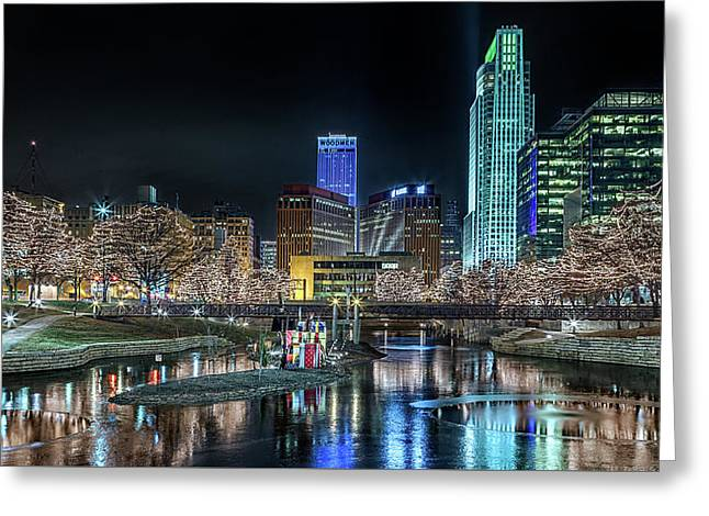 Greeting Card featuring the photograph Merry Christmas Omaha by Susan Rissi Tregoning