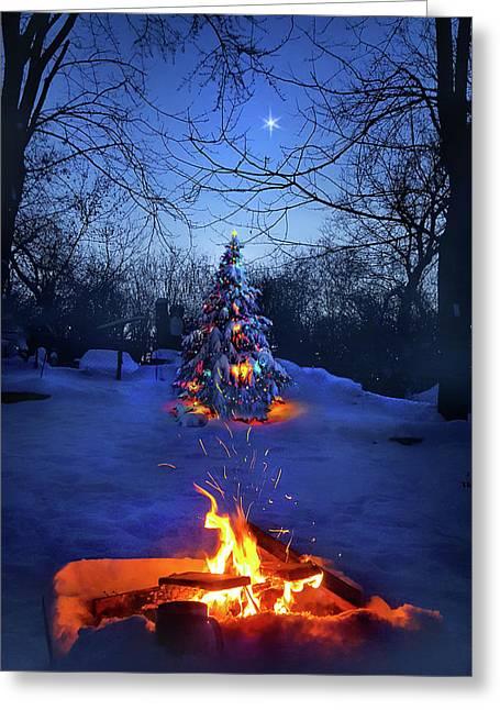 Merry Christmas Greeting Card by Phil Koch