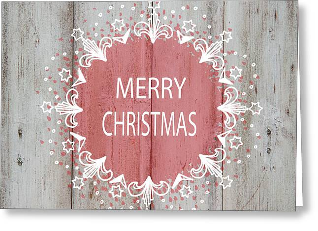 Merry Christmas Stencil Greeting Card