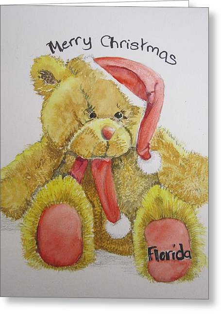 Merry Christmas Teddy  Greeting Card