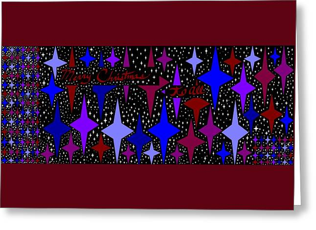 Merry Christmas To All, Starry, Starry Night Greeting Card