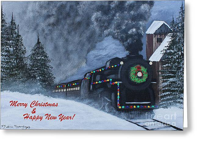 Merry Christmas Train Greeting Card