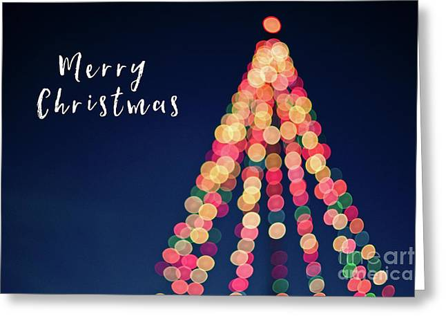 Merry Christmas Tree Card Greeting Card by Edward Fielding