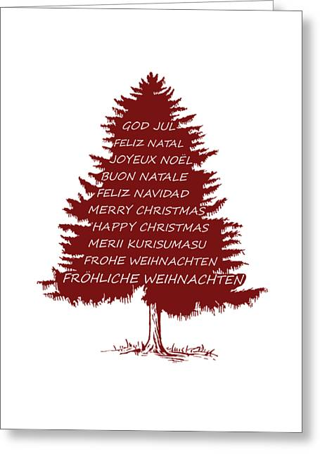 Merry Christmas Tree Greeting Card by Mordax Furittus