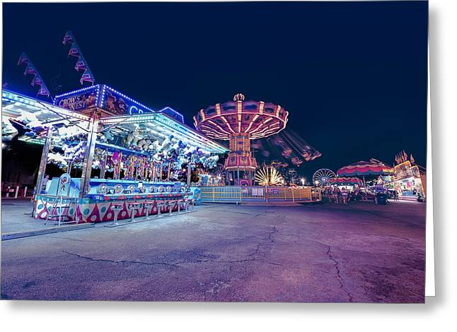 Greeting Card featuring the photograph Merry Go Creepy by JD Mims