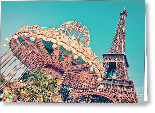 Merry Go Paris Greeting Card