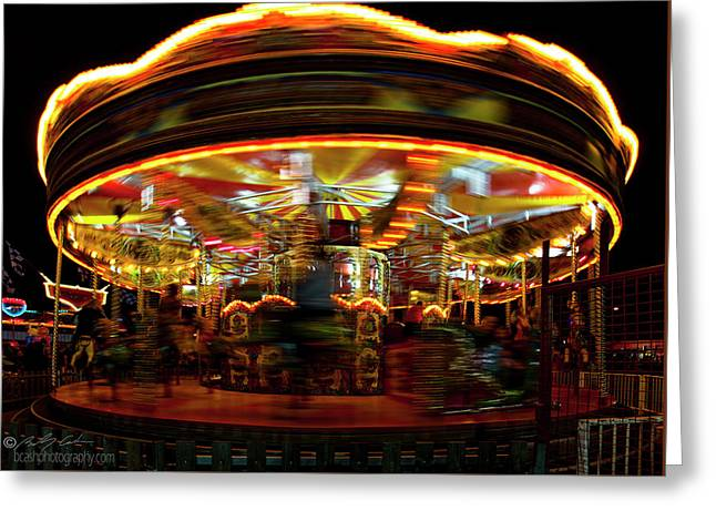 Merry-go-round Greeting Card