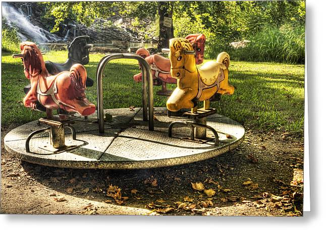 Merry-go-round Greeting Card by Tamyra Ayles