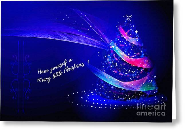 Greeting Card featuring the digital art Merry Little Christmas Card 2017 by Kathryn Strick