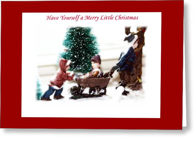 Greeting Card featuring the digital art Merry Little Christmas by Ellen Barron O'Reilly