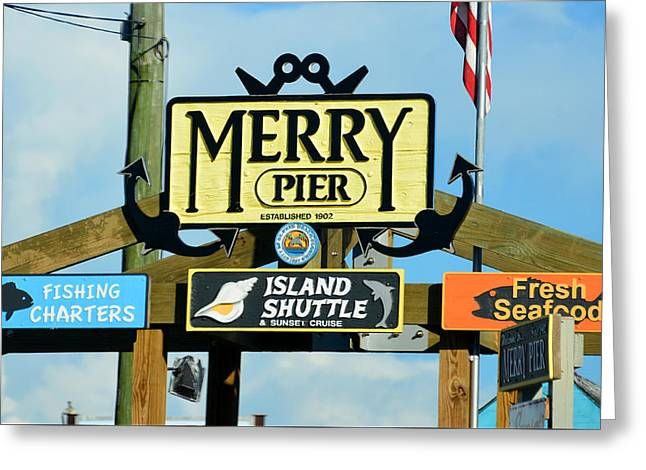 Merry Pier Est 1902 Greeting Card by David Lee Thompson