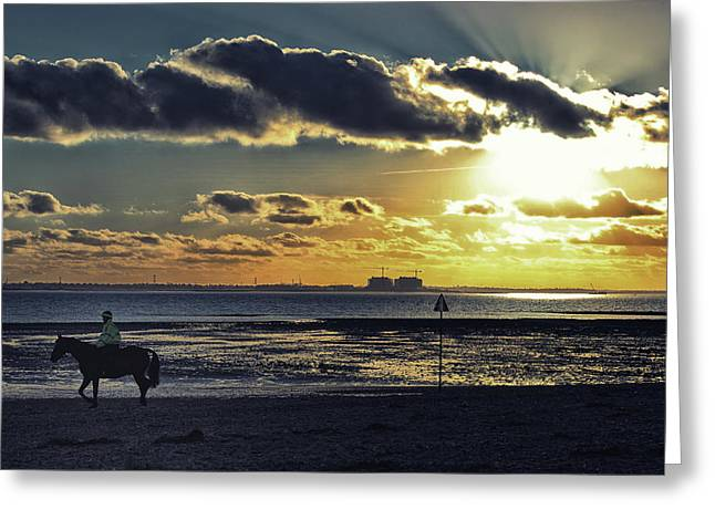 Mersea Island Greeting Card by Martin Newman