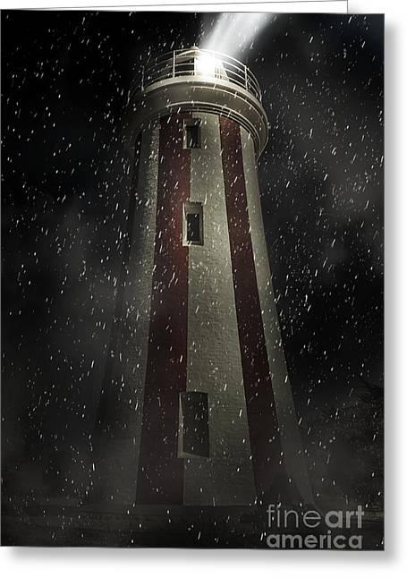 Mersey Bluff Lighthouse In Devonport. Fine Art Greeting Card