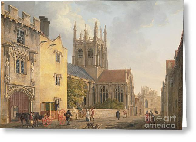 Town Photographs Greeting Cards - Merton College - Oxford Greeting Card by Michael Rooker