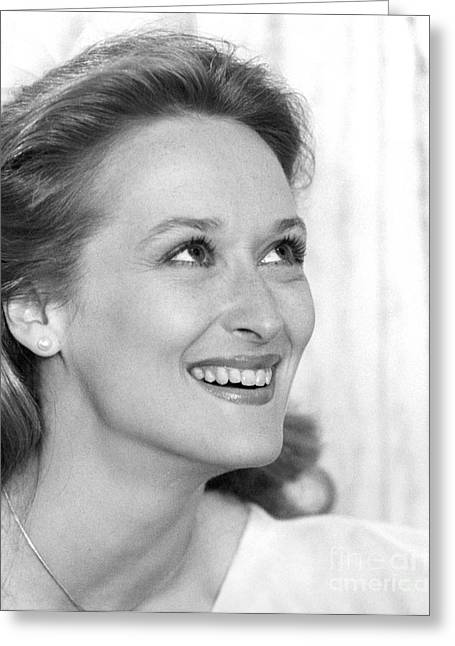 Meryl Streep (b.1949) Greeting Card by Granger