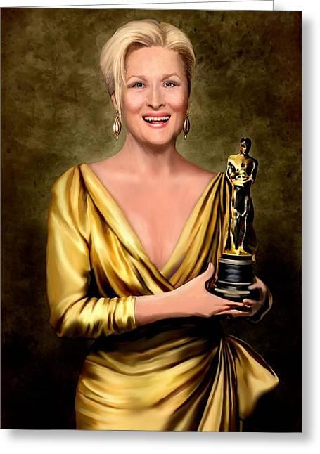 Meryl Streep Winner Greeting Card
