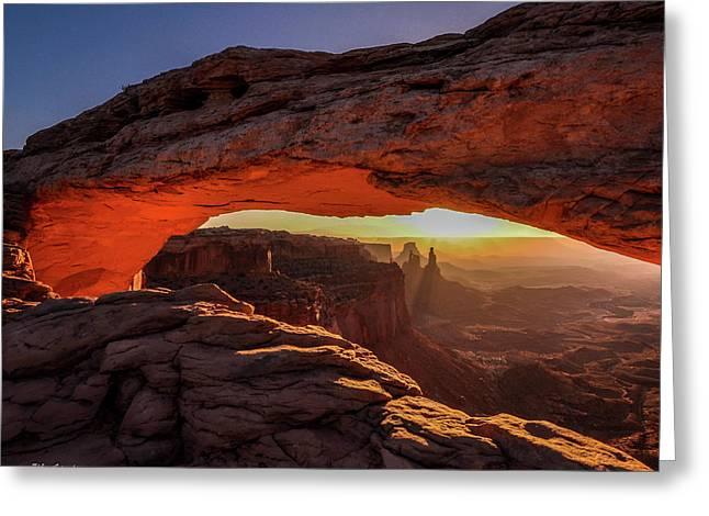 Mesa Arch At Sunrise 1, Canyonlands National Park, Utah Greeting Card