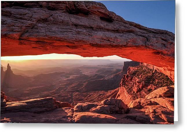 Mesa Arch At Sunrise 2, Canyonlands National Park, Utah Greeting Card