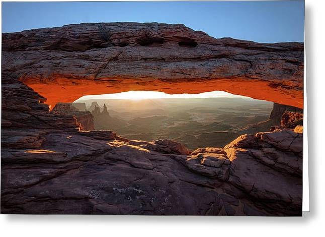 Mesa Arch At Sunrise Greeting Card by Mark Kiver
