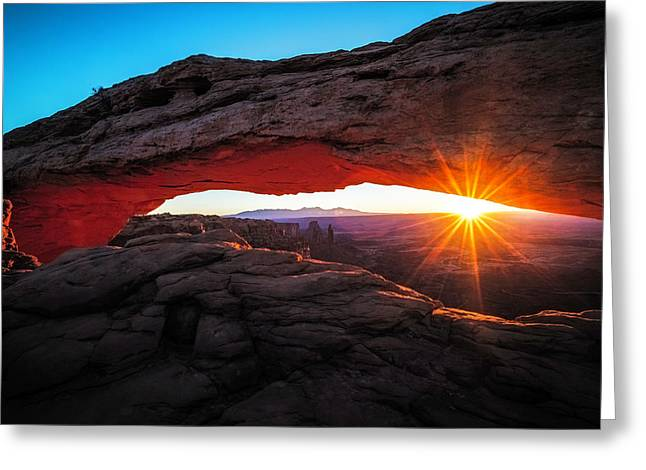 Mesa Arch Greeting Card by Edgars Erglis