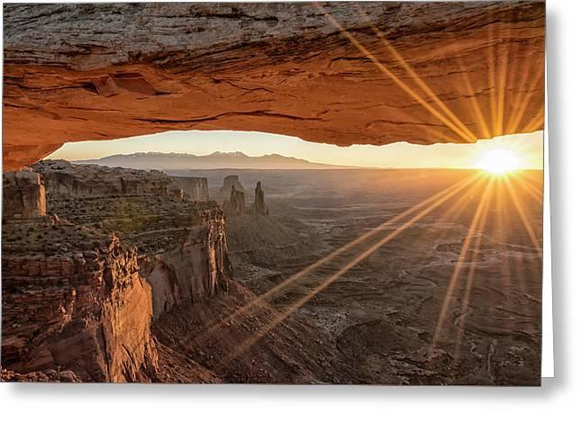 Mesa Arch Sunrise 4 - Canyonlands National Park - Moab Utah Greeting Card