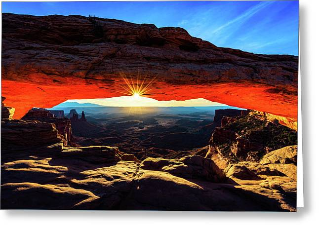 Greeting Card featuring the photograph Mesa Arch Sunrise by John Hight