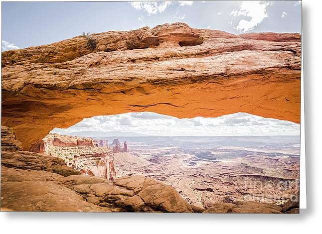 Mesa Arch Sunrise Greeting Card by JR Photography