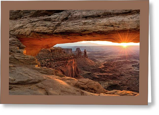 Mesa Arch Sunrise - Www.thomasschoeller.photography   Greeting Card by Thomas Schoeller