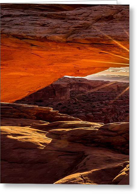 Mesa Arch Triptych Panel 1/3 Greeting Card