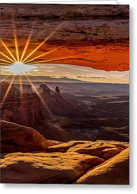 Mesa Arch Triptych Panel 2/3  Greeting Card