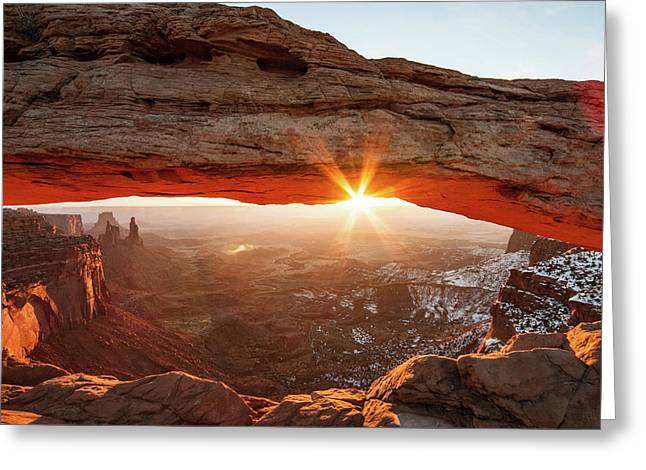 Greeting Card featuring the photograph Mesa Arch by Wesley Aston