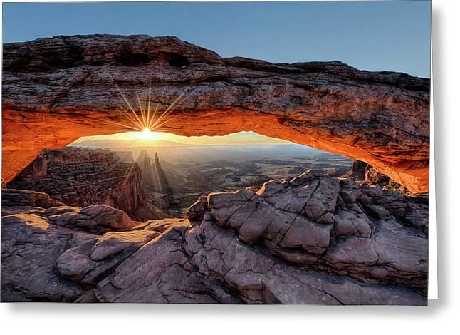 Mesa Arch Sunburst By Olena Art Greeting Card