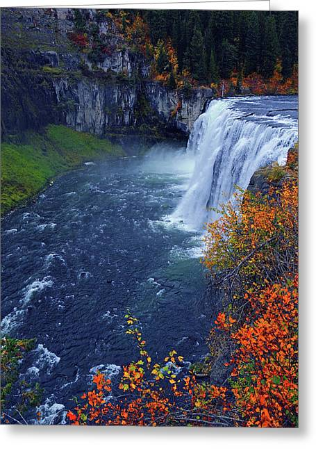 Mesa Falls In The Fall Greeting Card