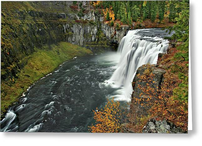 Greeting Card featuring the photograph Mesa Falls by Wesley Aston