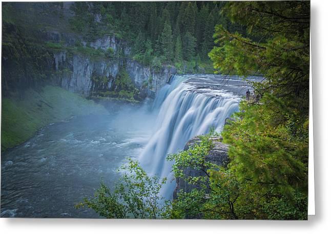 Mesa Falls - Yellowstone Greeting Card by Dan Pearce