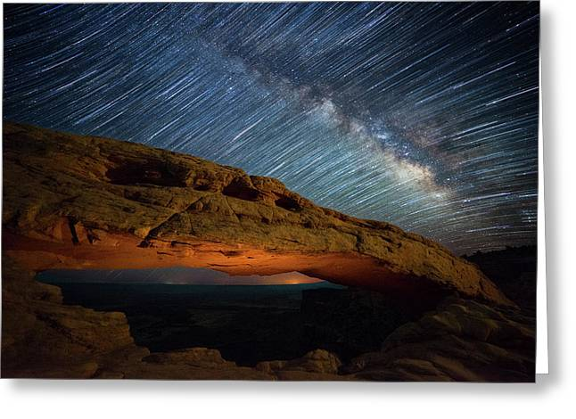 Mesa Star Storm Greeting Card by Darren White