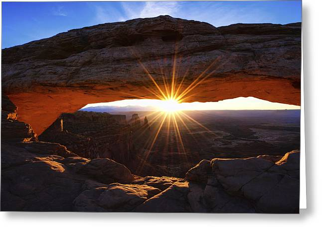 Mesa Sunrise Greeting Card