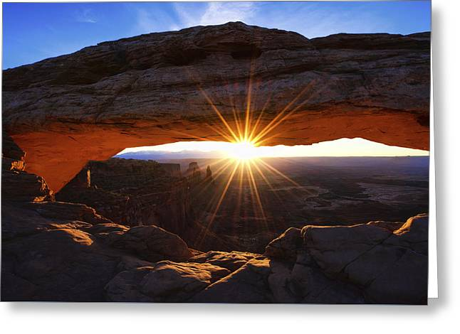 Mesa Sunrise Greeting Card by Chad Dutson