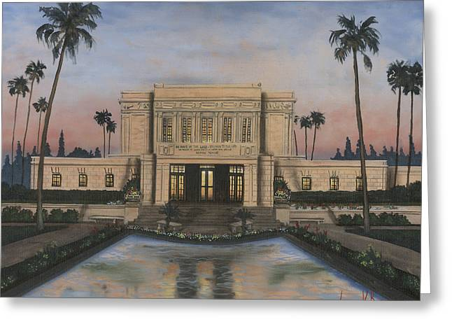 Mesa Temple Greeting Card by Jeff Brimley