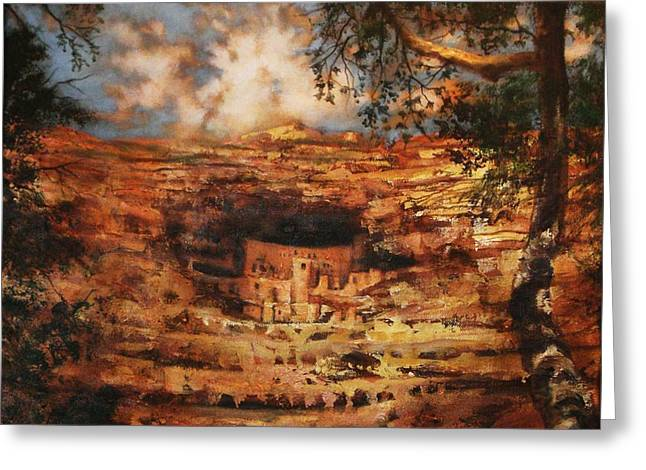Cliff Dwellers Greeting Cards - Mesa Verde Colorado Greeting Card by Tom Shropshire
