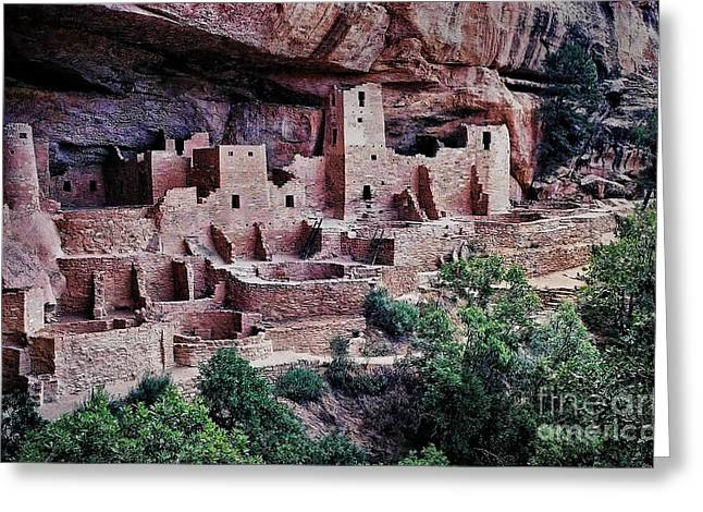 4 Corners Greeting Cards - Mesa Verde Greeting Card by Heather Applegate