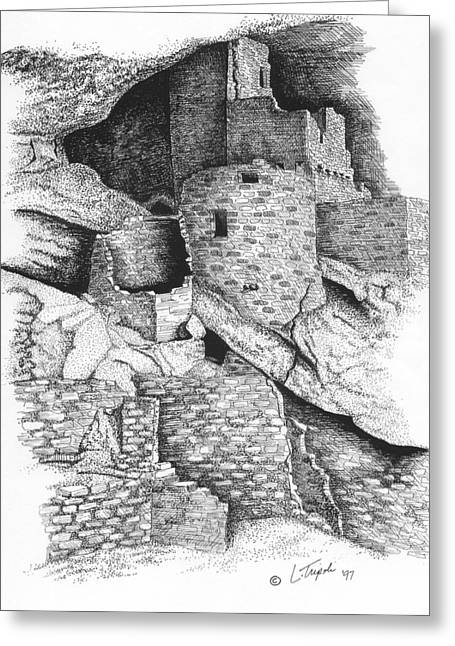 Mesa Verde Greeting Card by Lawrence Tripoli