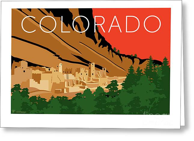 Mesa Verde Orange Greeting Card