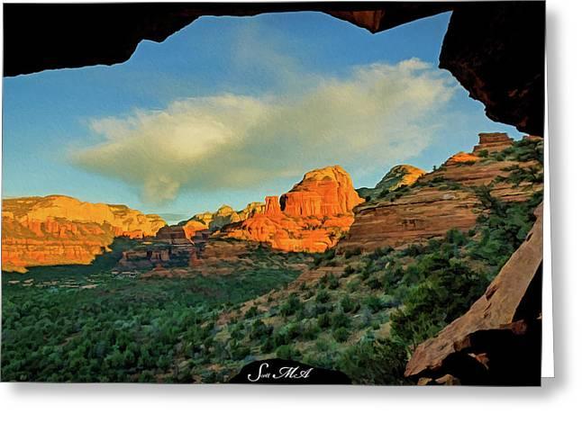 Mescal Mountain 04-012 Greeting Card by Scott McAllister