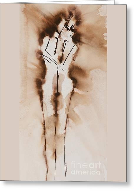 Mesh II  His Divine Love Series No. 1285 Greeting Card by Ilisa Millermoon