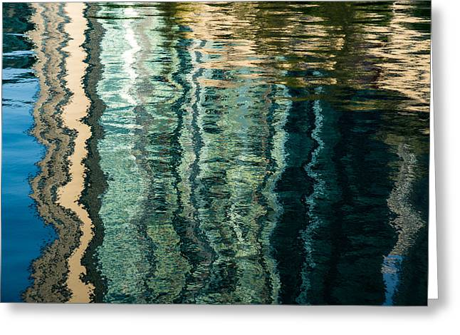 Mesmerizing Abstract Reflections Two Greeting Card