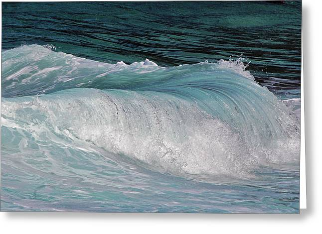 Greeting Card featuring the photograph Mesmerizing Wave by Judy Deist