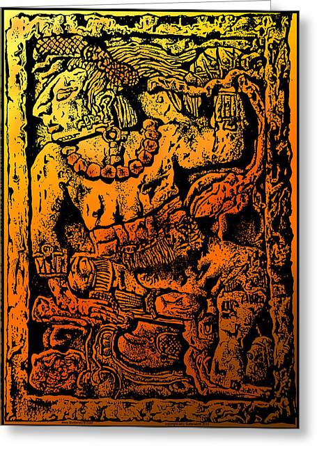 Mesoamerican  Mayan Figure Eight Century Mexico Greeting Card by Larry Butterworth